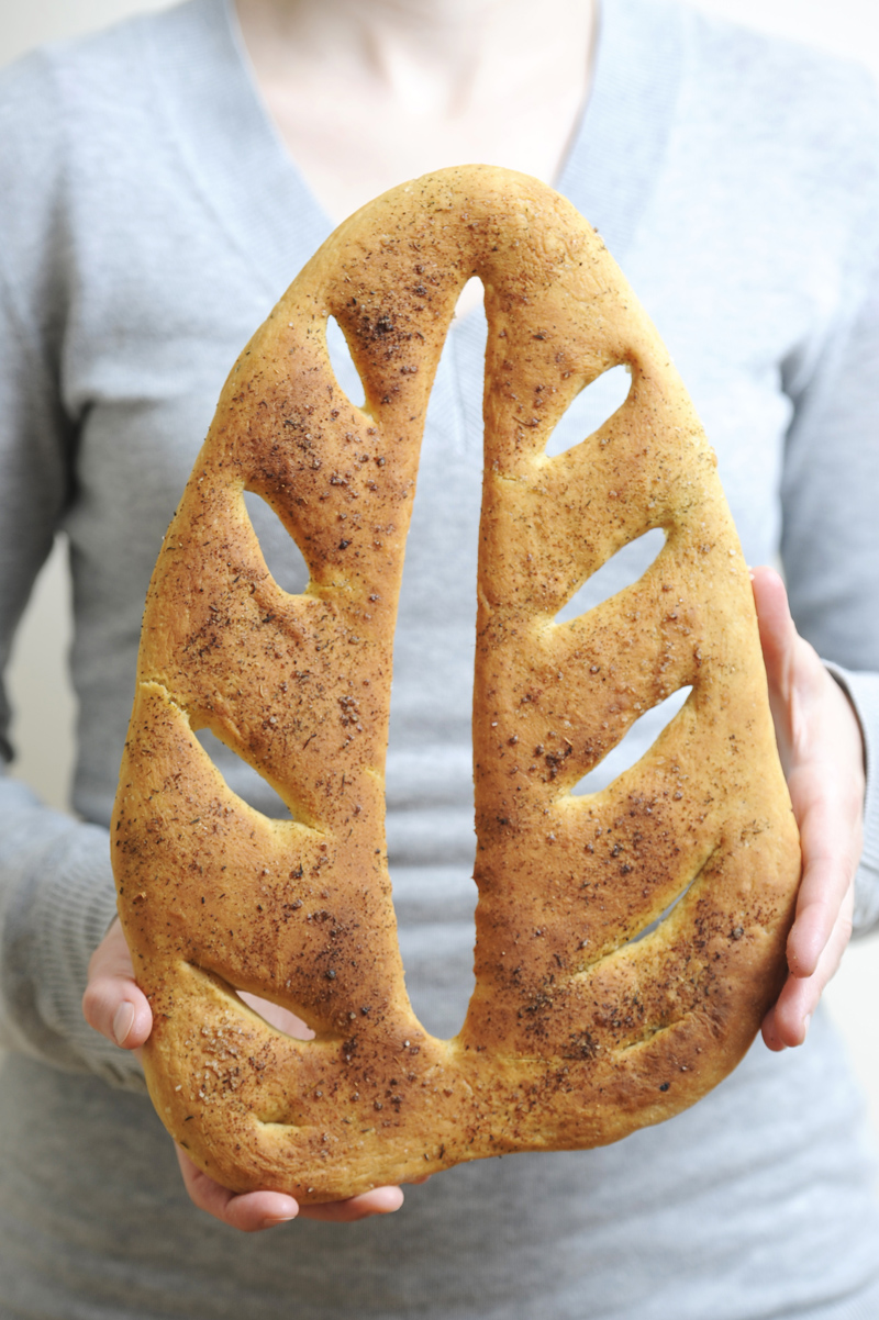 Fougasse in Blattform