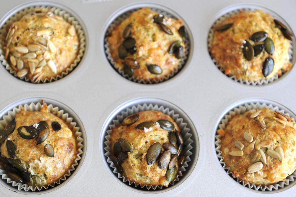 Leckere herzhafte Muffins mit Zutaten aus der Kunstmühle Hofmeir