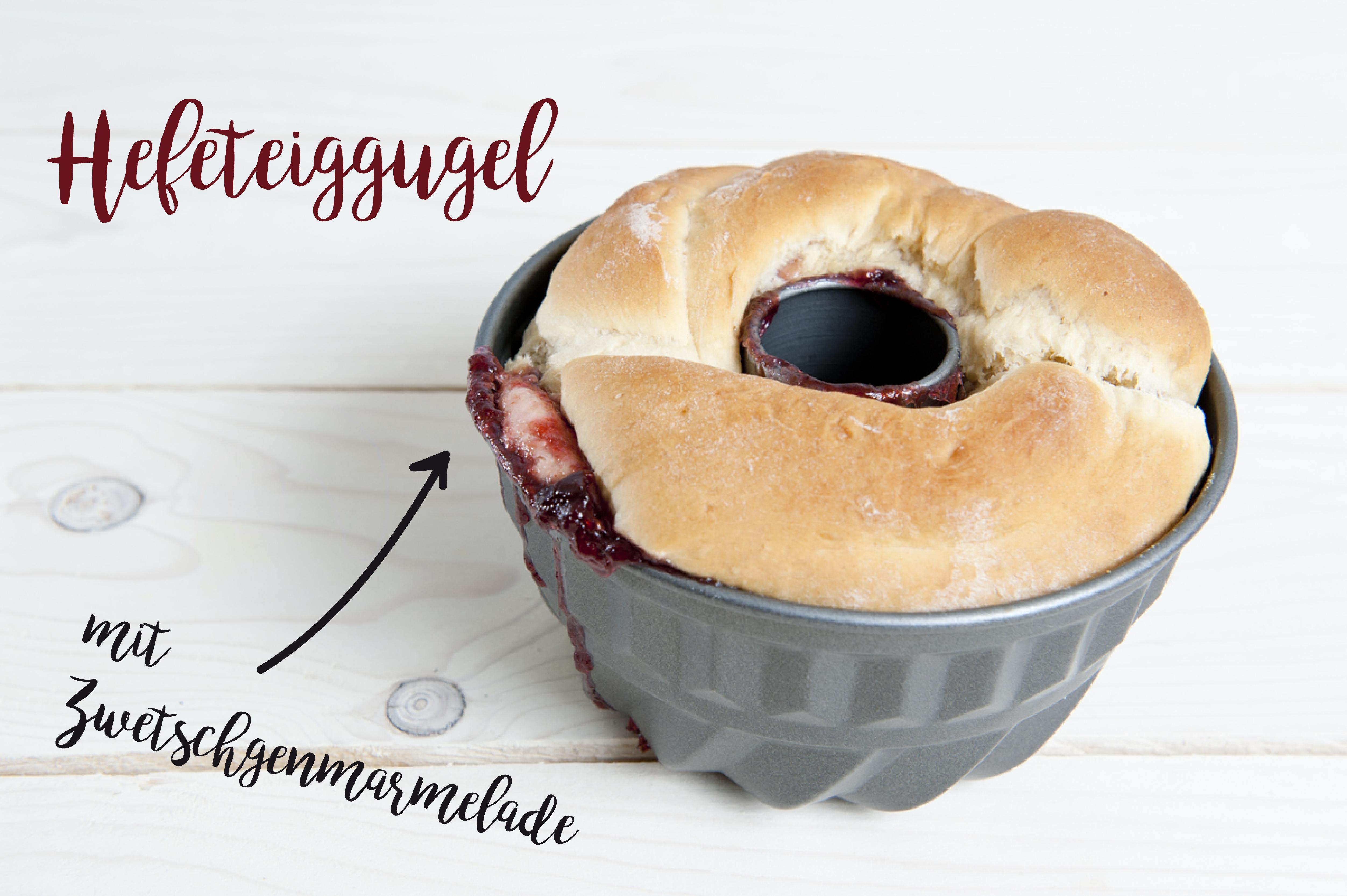Der Kuchen in der Gugelhupf-Form... Man sieht das Desaster nahen. :)