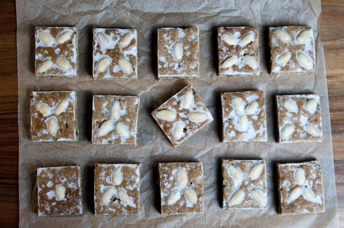 Leckere Lebkuchen mit Mandeln