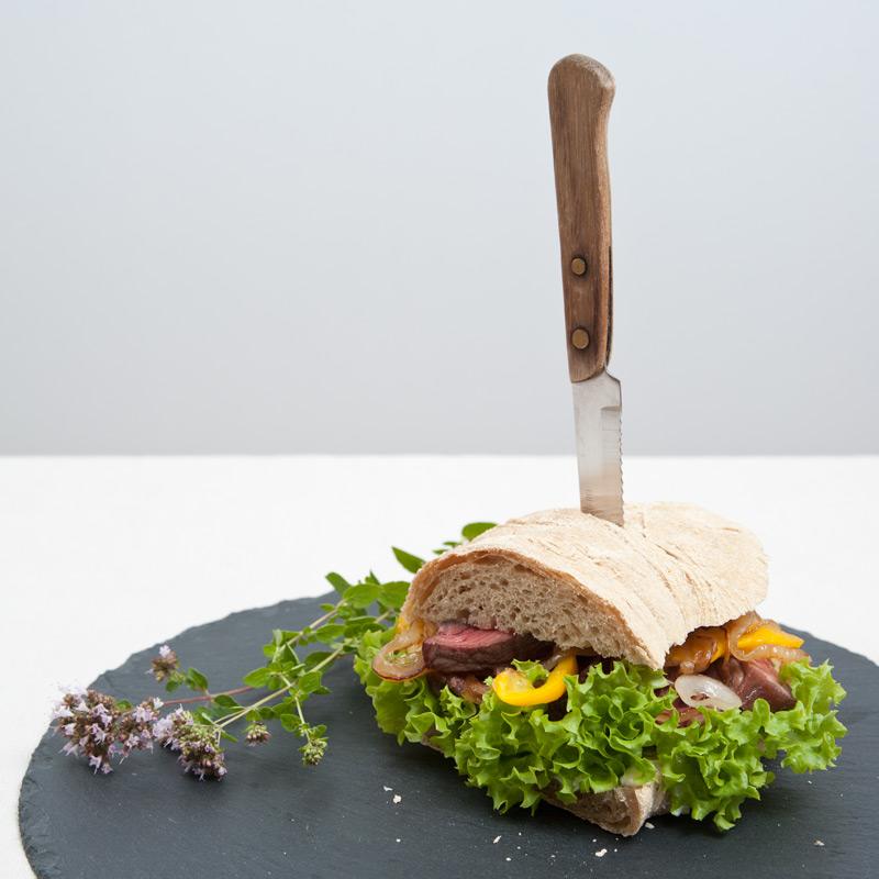 Ciabatta Sandwich mit Steak