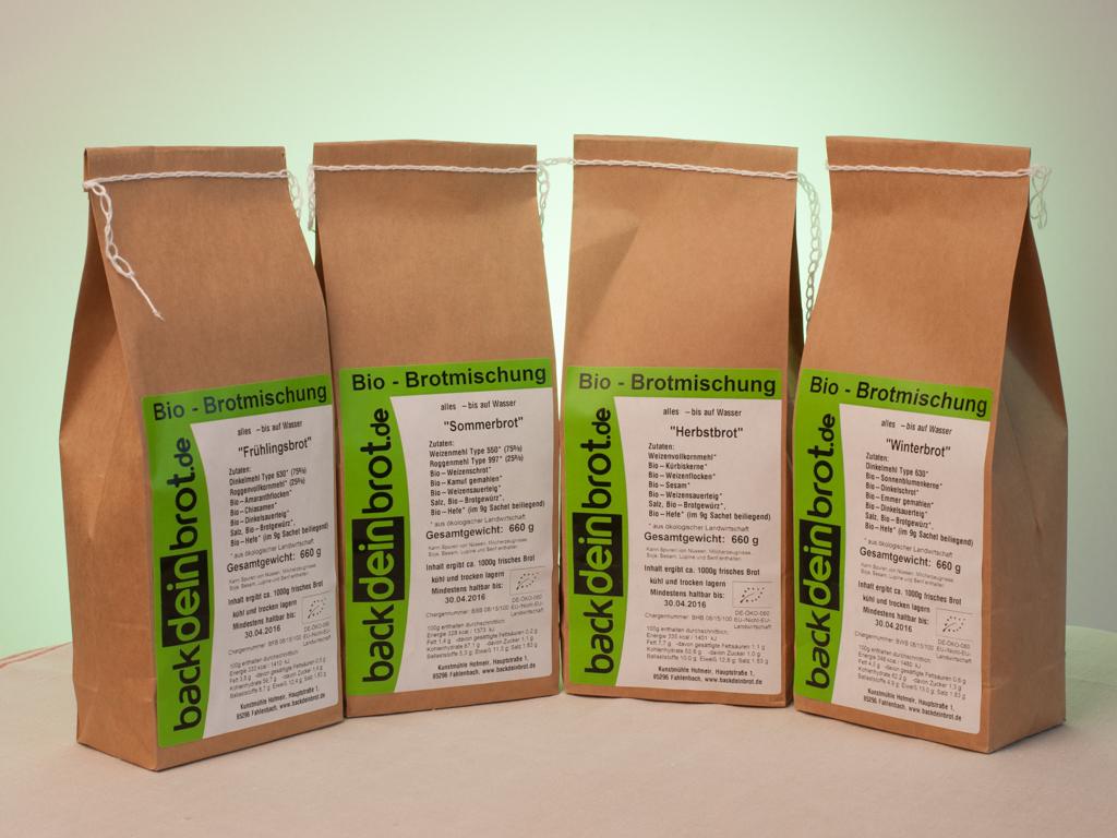 backdeinbrot Bio-Brotmischungen mit regionalem Mehl