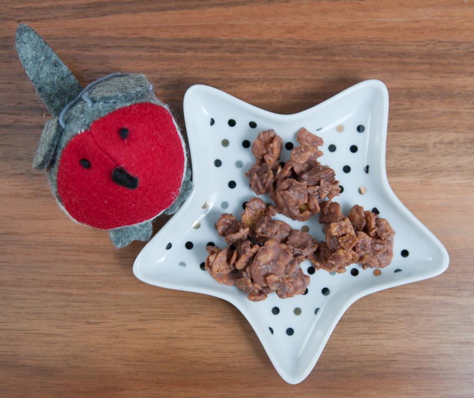 homemade choco crossies mit cornflakes