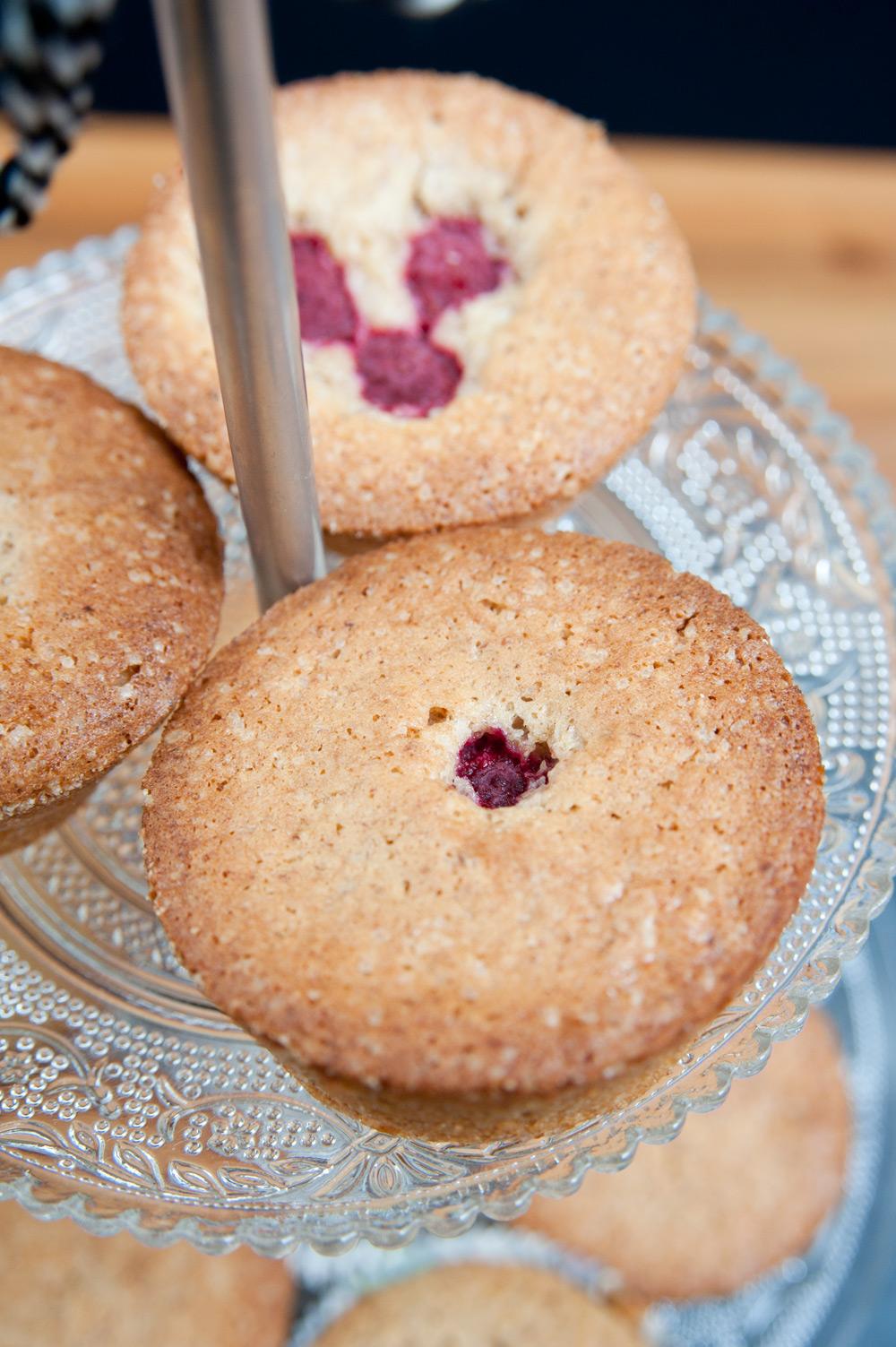 Kleine Mandel-Kuchen mit Dinkel Mehl