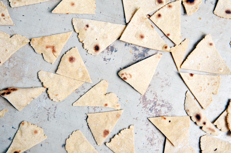 Leckere selbst gemachte Tortilla-Chips aus Dinkel oder Vollkorn Mehl