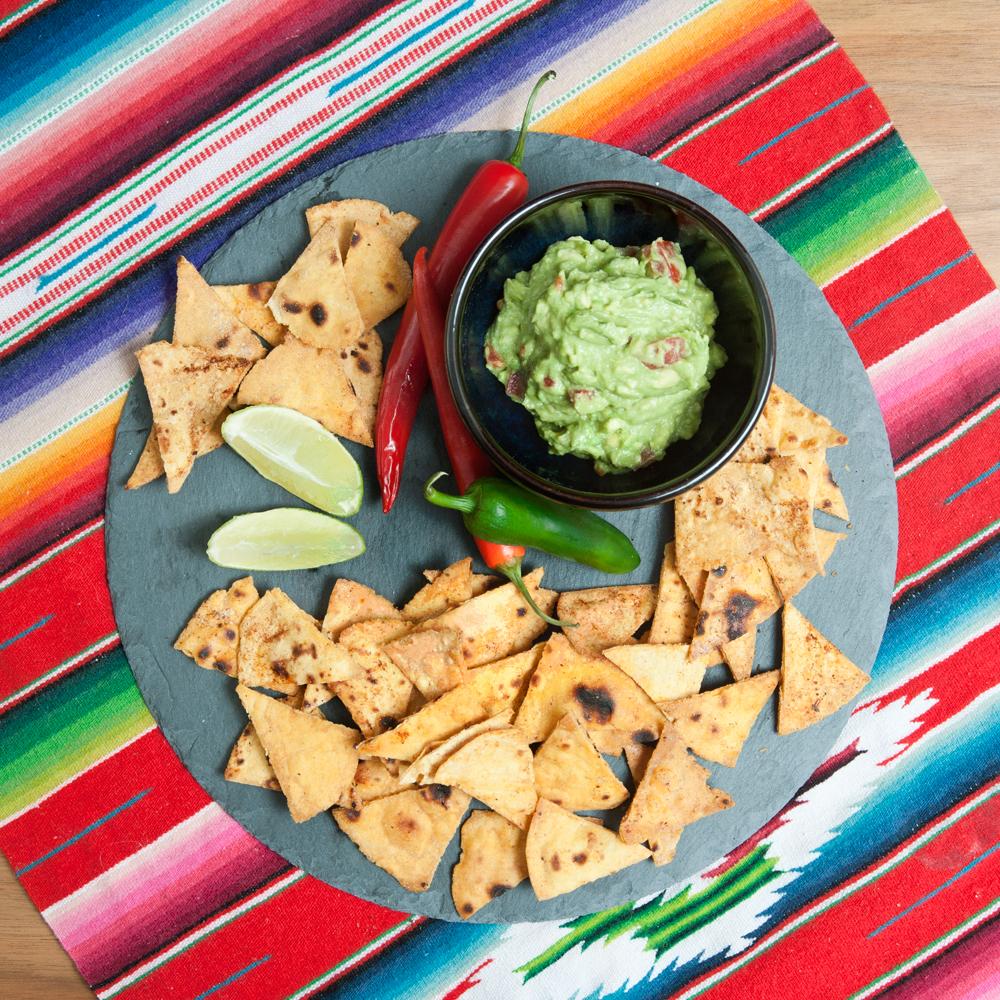 Tortilla-Chips selbstgemacht mit Weizen-Vollkornmehl aus der Kunstmühle