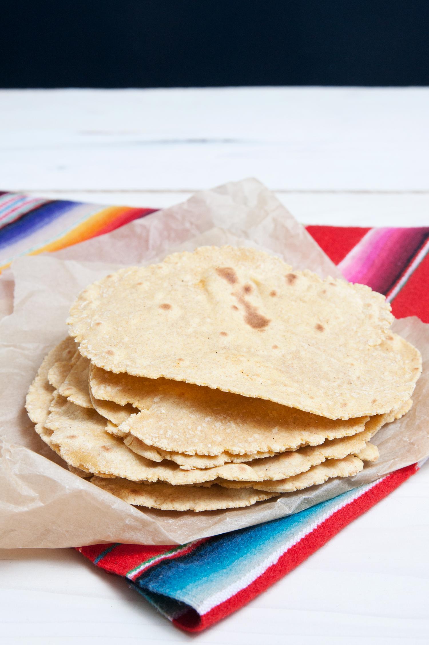 Tortilla Fladen selbst gemacht mit Mehl aus der Mühle Hofmeir