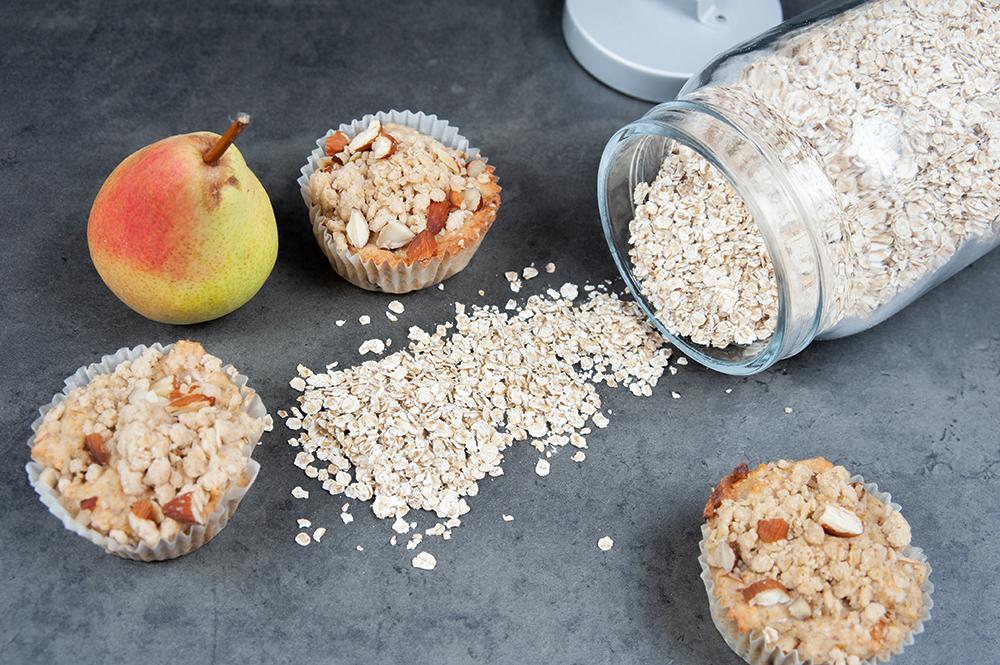 Haferflocken passen nicht nur ins Müsli, sondern auch in Muffins! :)