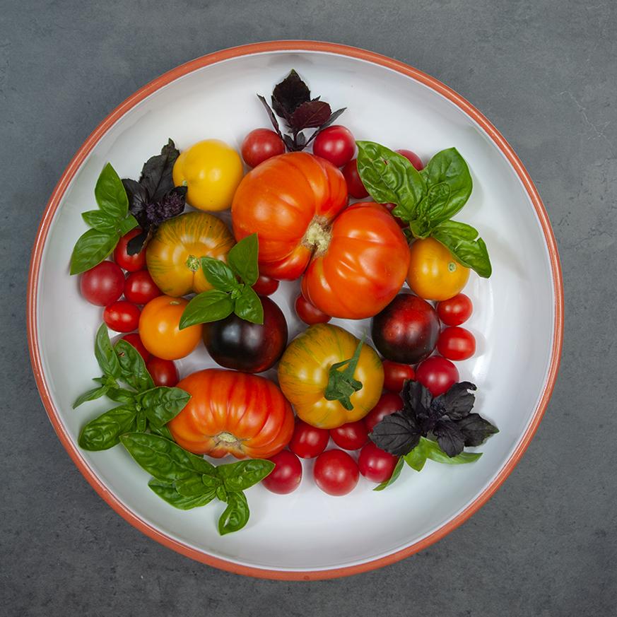 Alte Tomatensorten für einen wunderbaren, italienischen Brotsalat.