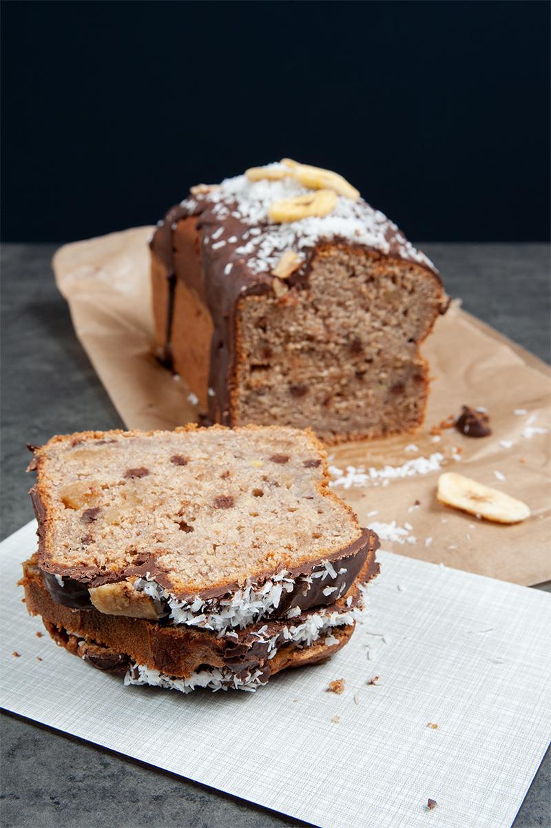 Banana bread - Bananenbrot bzw. Kuchen mit Kokos