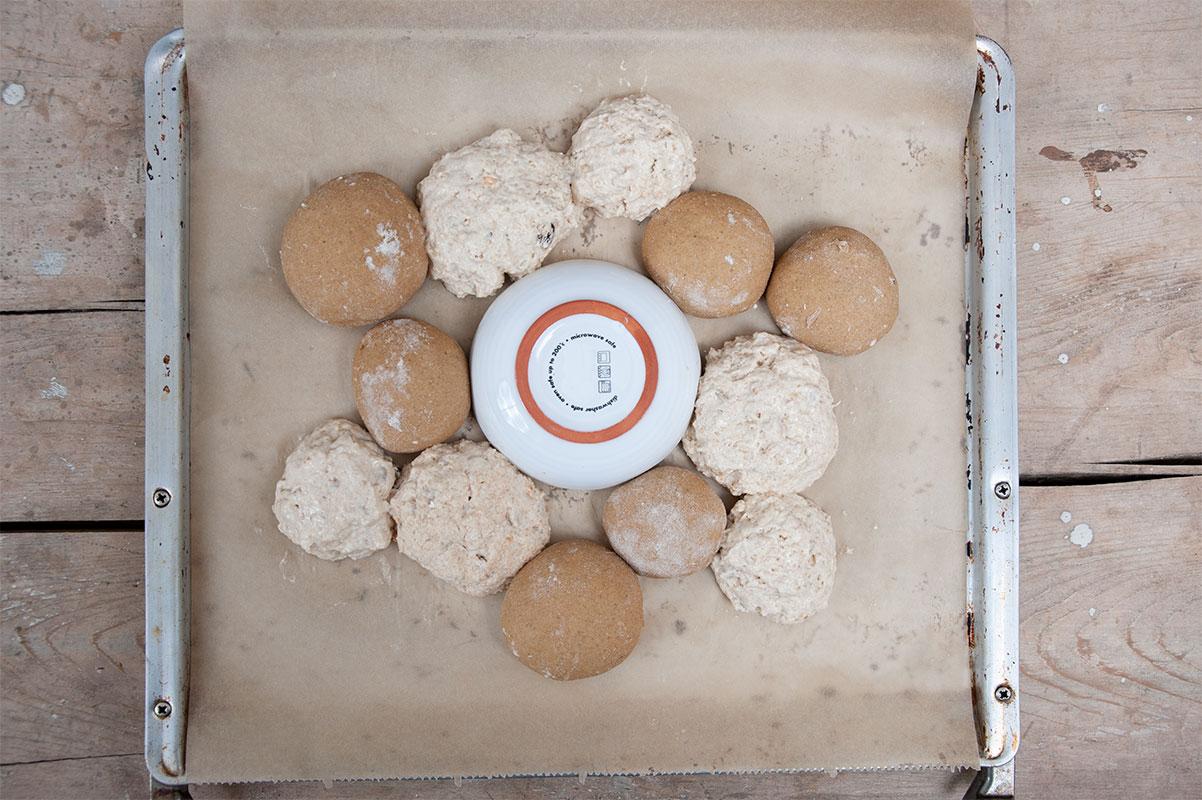 Brotkranz mit Platzhalter für den Ofenkäse