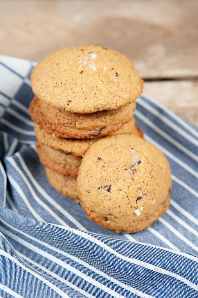Amerikanische Cookies aus Einkornmehl